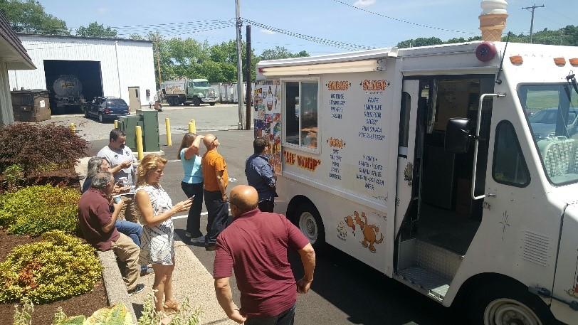 White Ice Cream Truck